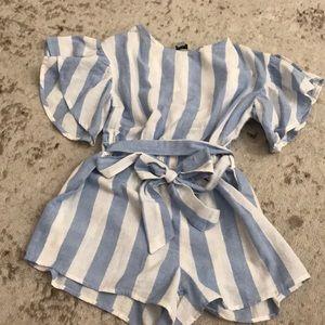 Habitual girl kids shorts romper size 7/8 NWT